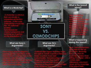Sony  vs.  OzModchips