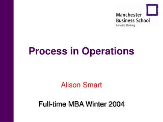 Process in Operations