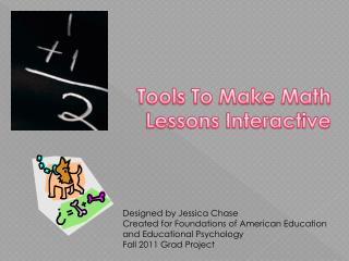 Tools To Make Math Lessons Interactive