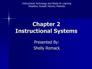 Chapter 2 Instructional Systems