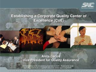 Anita Carlos Vice President for Quality Assurance