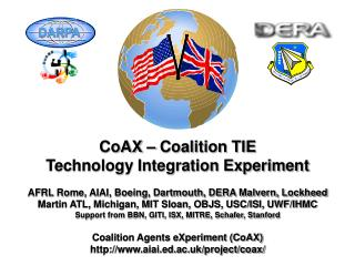 CoAX – Coalition TIE Technology Integration Experiment