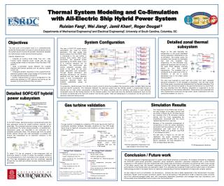 Thermal System Modeling and Co-Simulation  with All-Electric Ship Hybrid Power System