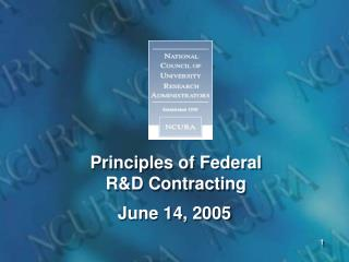 Principles of Federal R&D Contracting