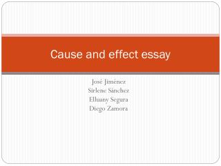 cause and effect essay nedir