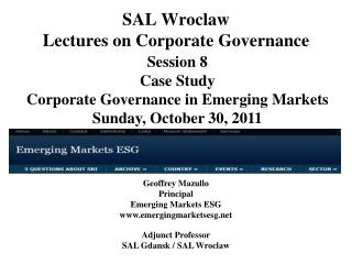 SAL Wroclaw Lectures on Corporate Governance
