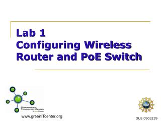 Lab 1   Configuring Wireless Router and  PoE  Switch