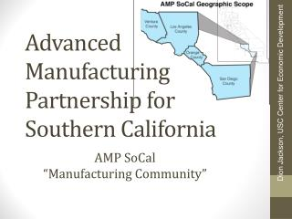 Advanced Manufacturing Partnership for Southern California