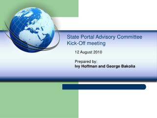 State Portal Advisory Committee Kick-Off meeting