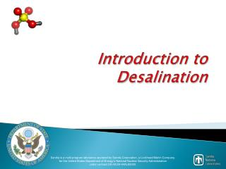 Introduction to Desalination