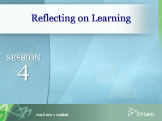 Reflecting on Learning