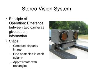 Stereo Vision System