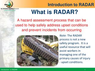 What is RADAR?