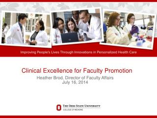 Clinical Excellence for Faculty Promotion