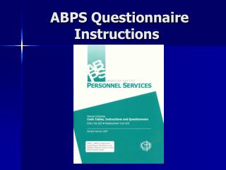 ABPS Questionnaire Instructions