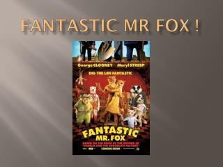 Fantastic  Mr Fox !