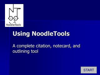 Using NoodleTools