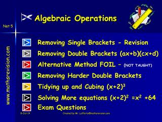 Algebraic Operations