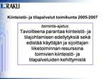 Kiinteist - ja tilapalvelut toimikunta 2005-2007