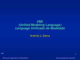 UML ( Unified Modeling Language )  Lenguage Unificado de Modelado
