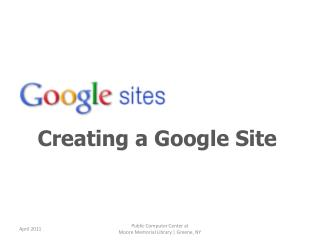 Creating a Google Site