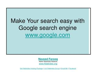 Make Your search easy with Google search engine google