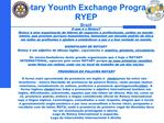 Rotary Younth Exchange Program  RYEP Brazil