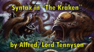 "Syntax in  "" The Kraken "" by Alfred, Lord Tennyson"