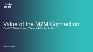 Value of the M2M Connection