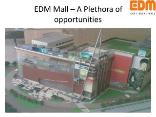 EDM Mall – A Pl e th o r a of o p p o rtunities