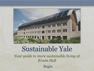 Sustainable Yale