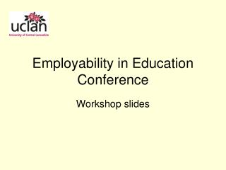 Employability in Education Conference
