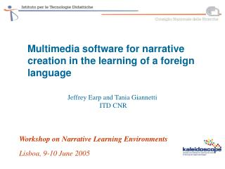 Multimedia software for narrative creation in the learning of a foreign language