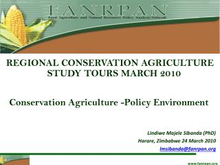 Conservation Agriculture -Policy Environment