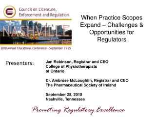 When Practice Scopes Expand – Challenges & Opportunities for Regulators