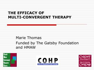 THE EFFICACY OF MULTI-CONVERGENT THERAPY