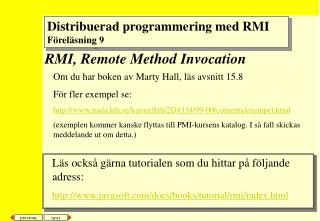 RMI, Remote Method Invocation