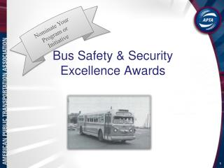 Bus Safety & Security Excellence Awards