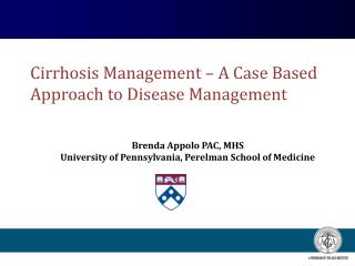 Cirrhosis Management – A Case Based Approach to Disease Management