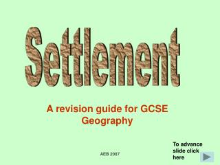 A revision guide for GCSE Geography
