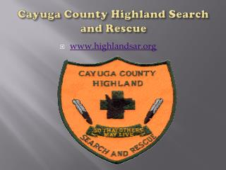 Cayuga County Highland Search and Rescue