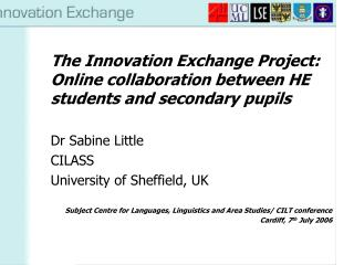 The Innovation Exchange Project: Online collaboration between HE students and secondary pupils