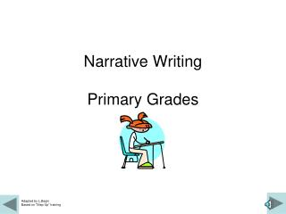 Narrative Writing Primary Grades