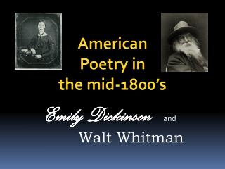 American Poetry in the mid-1800's