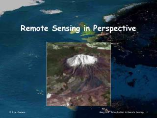Remote Sensing in Perspective