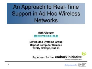 An Approach to Real-Time Support in Ad Hoc Wireless Networks