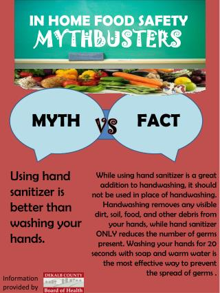 IN HOME FOOD SAFETY MYTHBUSTERS