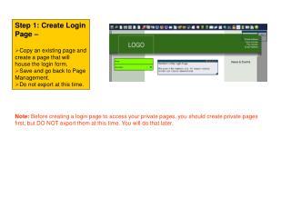 Step 1: Create Login Page –
