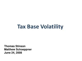 Tax Base Volatility