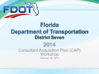 Florida  Department of Transportation District  Seven